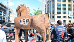 An anti-TPP rally in the Washington, DC area in April 2015. Credit: AFGE